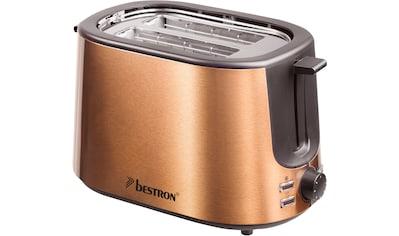 bestron Toaster »ATS1000CO«, 2 kurze Schlitze, für 2 Scheiben, 1000 W kaufen