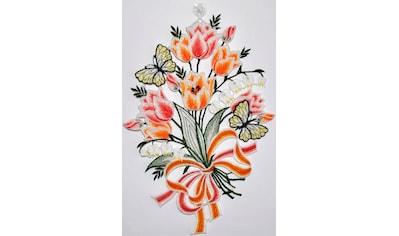 Stickereien Plauen Fensterbild »Fensterbild Blüten« kaufen