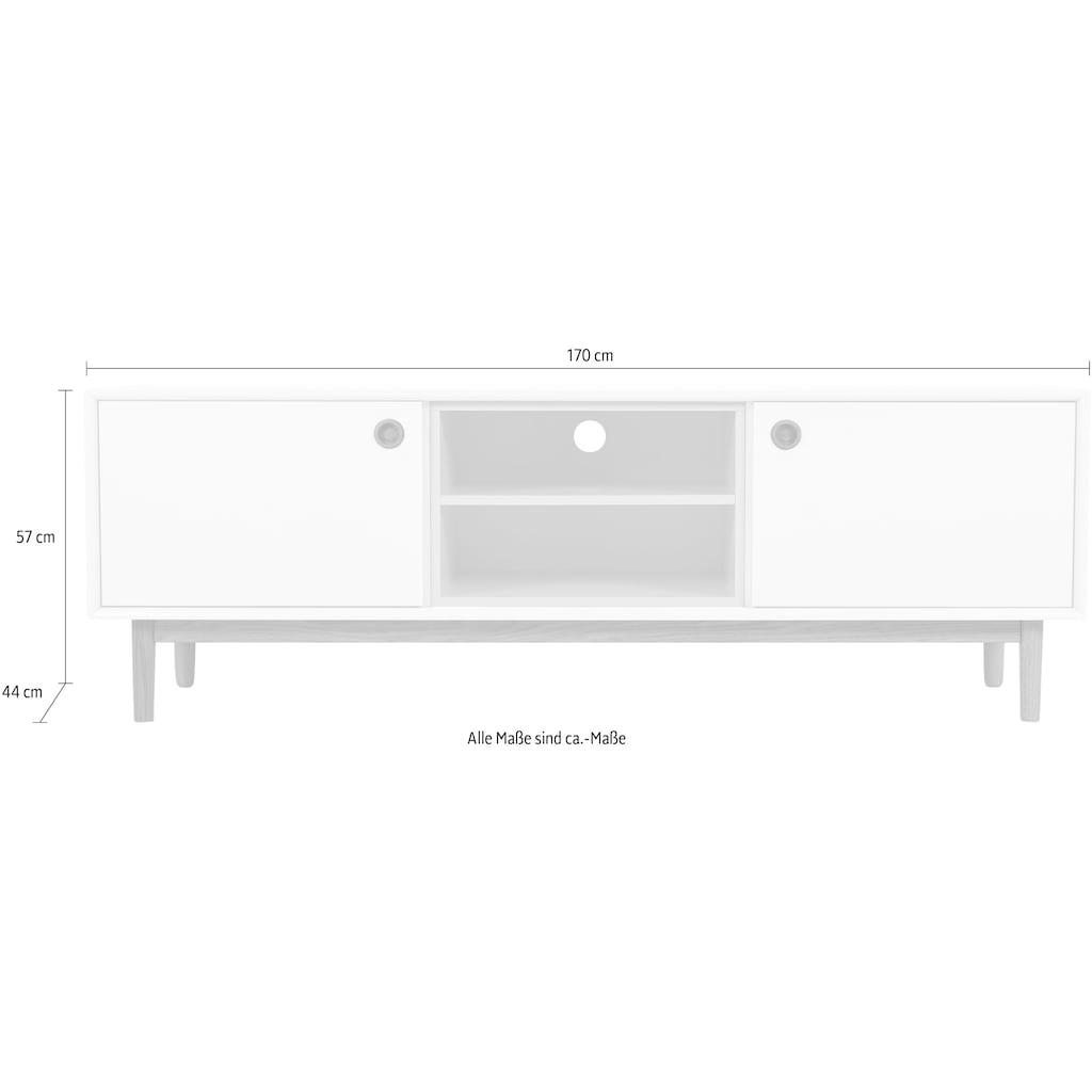 TOM TAILOR Lowboard »COLOR BOX«, mit 2 Türen & Kontrast-Regaleinsatz, Füße Eiche geölt, Breite 170 cm