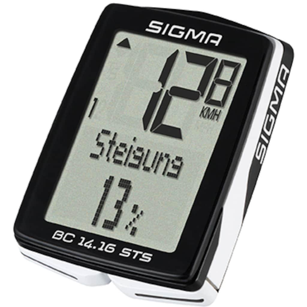 SIGMA SPORT Fahrradcomputer »BC 14.16 STS«, kabellos