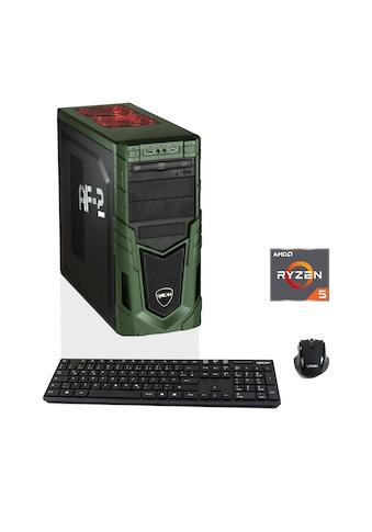 Hyrican Gaming PC Ryzen™ 5 2600, 8GB, SSD + HDD, AMD RX580 »MilitaryGaming 6252« kaufen
