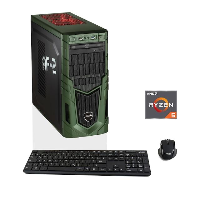 Hyrican Gaming PC Ryzen™ 5 2600, 8GB, SSD + HDD, AMD RX580 »MilitaryGaming 6252«