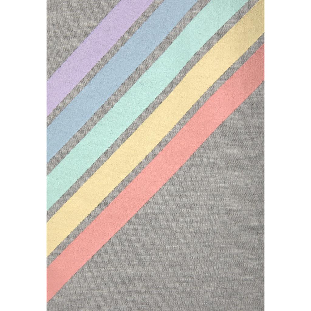 Buffalo Kapuzensweatjacke »Rainbow«, mit buntem Streifendruck