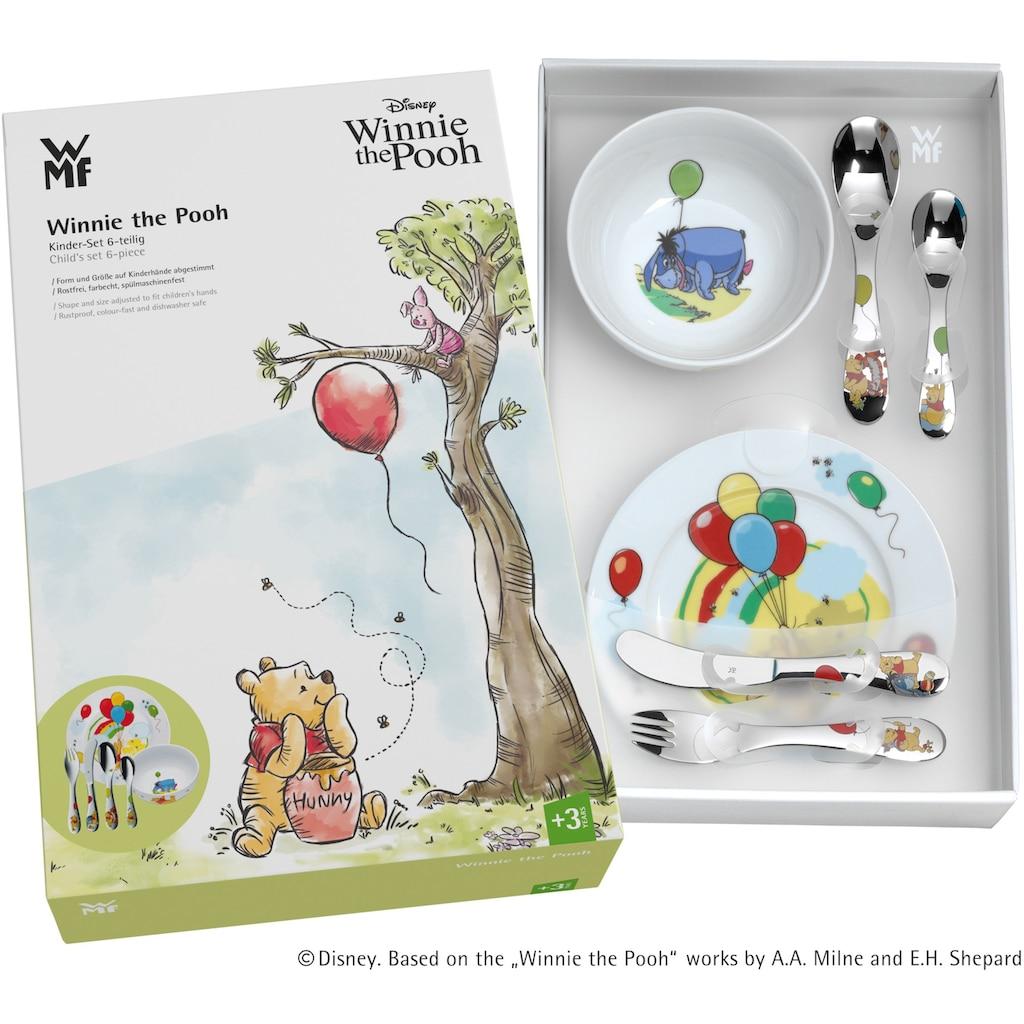 WMF Kindergeschirr-Set »Winnie Pooh«, (Set, 6 tlg.), Kindermesser mit leichtem Wellenschliff