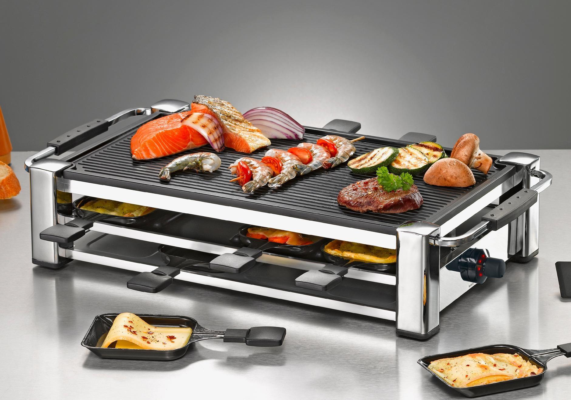 Severin Elektrogrill Gebraucht : Severin raclette elektrogrill tischgrill grill rg severin raclett