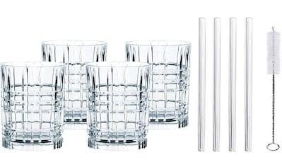 Nachtmann Whiskyglas »Tastes Good«, (Set, 9 tlg.), (4x Whiskybecher, 4x Glashalm, 1x... kaufen