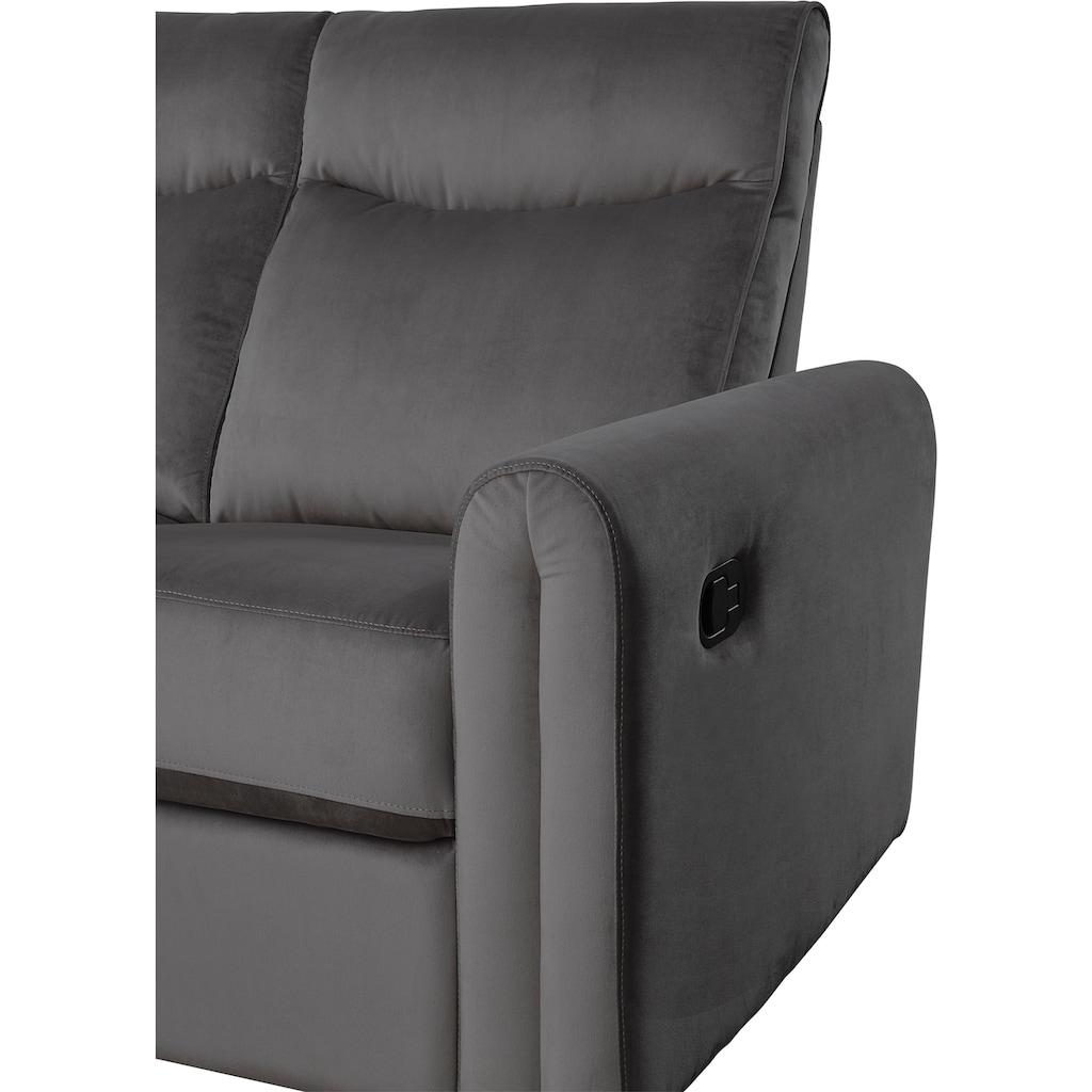ATLANTIC home collection Ecksofa, inklusive Relaxfunktion, Taschenfederkern und Stauraum