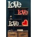 MARQUEE LIGHTS LED Dekolicht »Love Schriftzug«, 1 St., Warmweiß, Wandlampe, Tischlampe Love mit 33 festverbauten LEDs - 48cm Breit und 23cm hoch