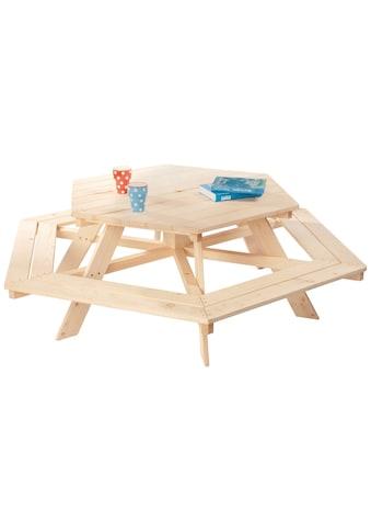 PINOLINO Kinderpicknicktisch »Nicki«, BxHxT: 162x162x50 cm kaufen