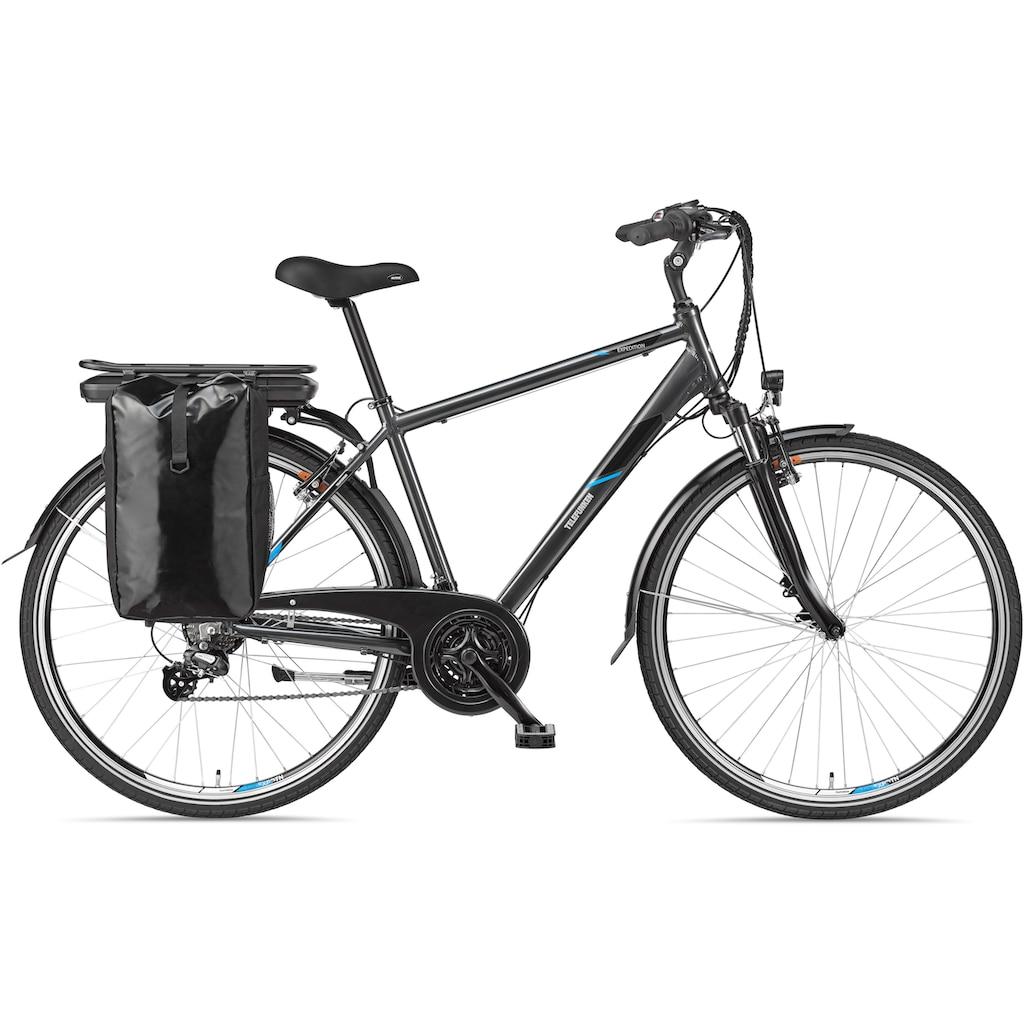 Telefunken E-Bike »Expedition XT481«, mit Fahrradtasche