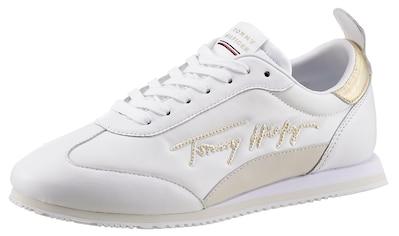TOMMY HILFIGER Sneaker »GOLD SIGNATURE RETRO RUNNER«, mit zweckmäßiger Anziehlasche kaufen