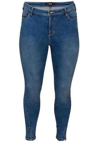 Zizzi Slim-fit-Jeans »Amy«, mit Reißverschluß am Beinabschluß kaufen