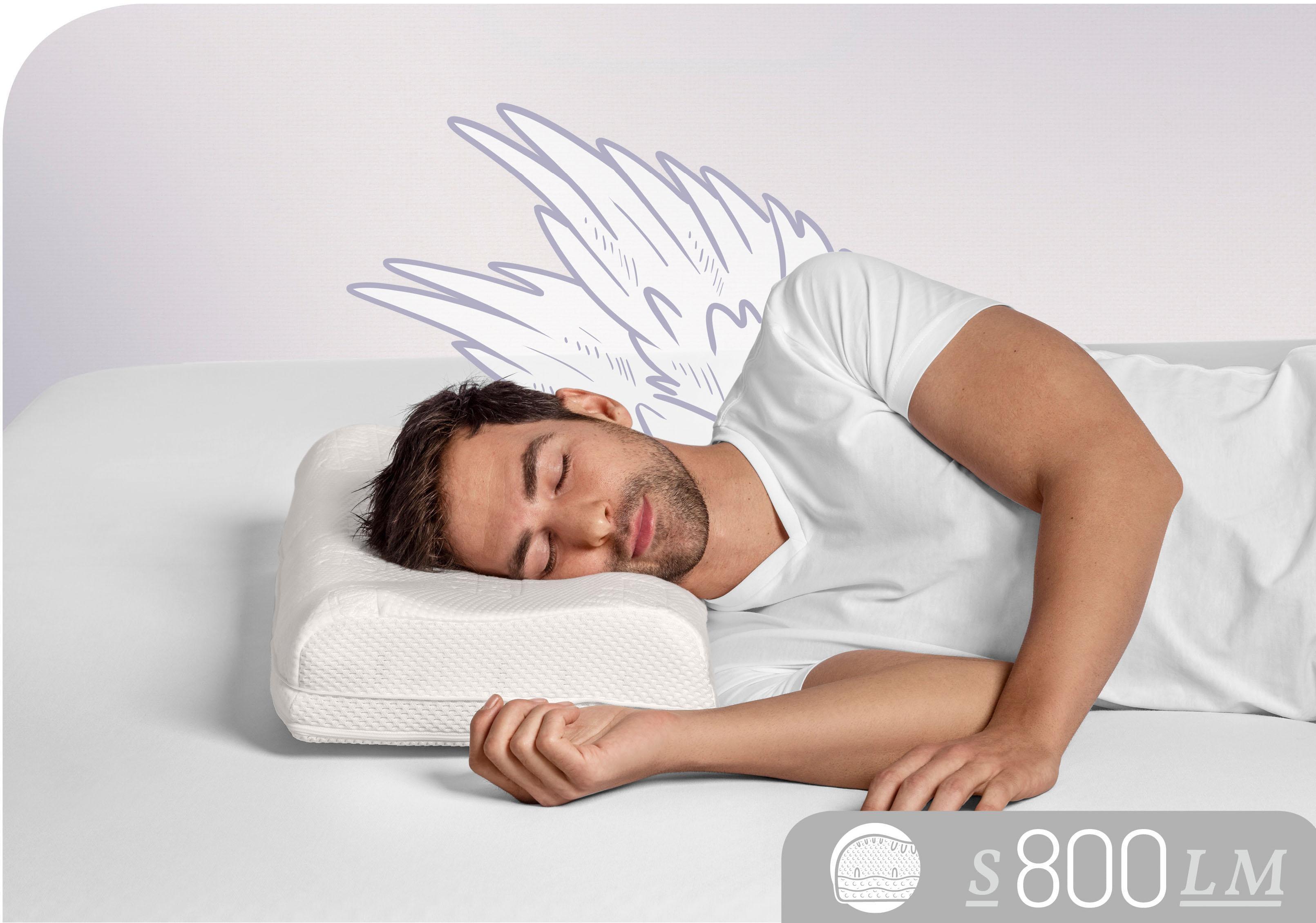 Nackenstützkissen S800 LM Schlafstil Füllung: Talalay Natur Latex Medium Bezug: 100% Baumwolle
