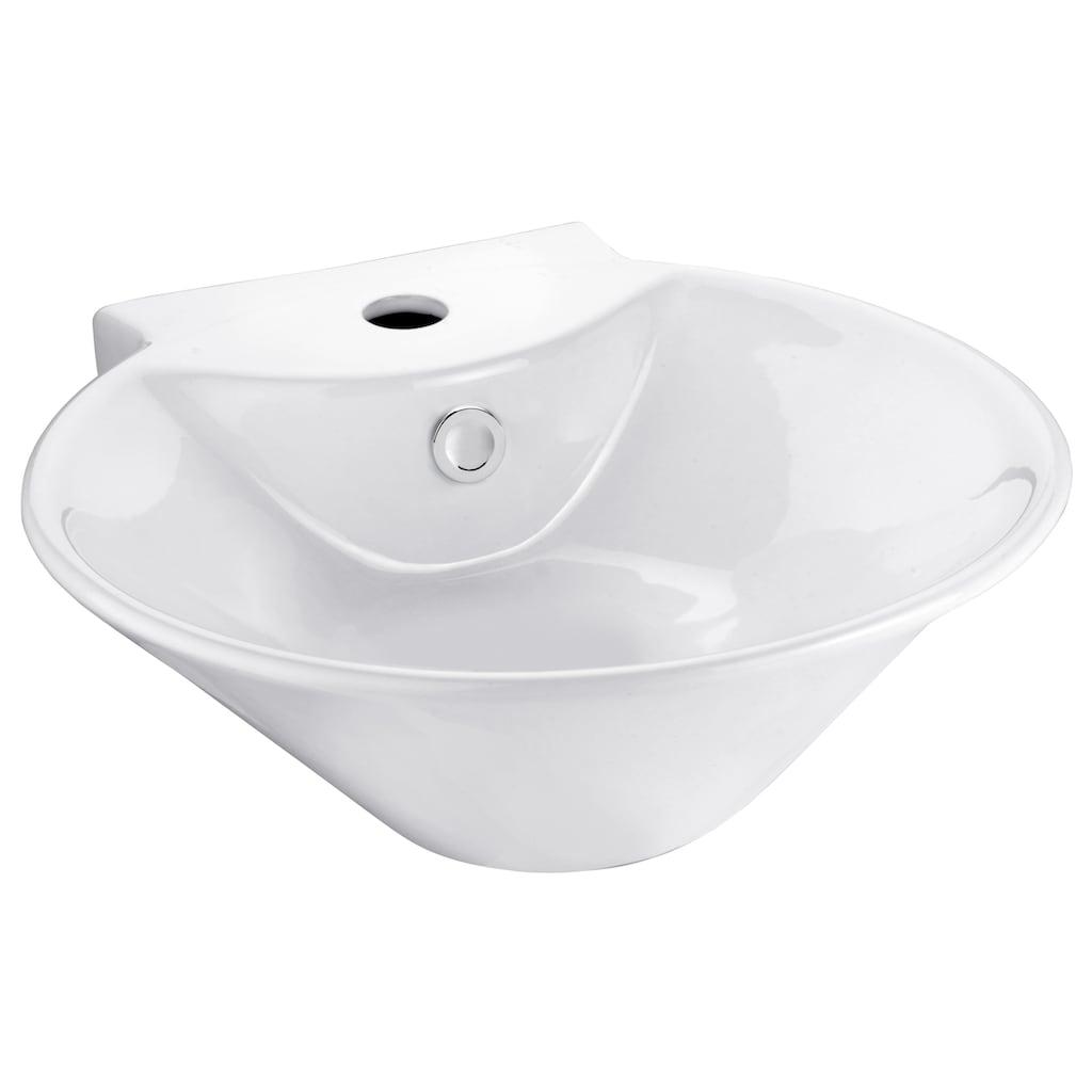 CORNAT Aufsatzwaschbecken »Sines«, mit Überlaufzierrosette, Breite 42 cm