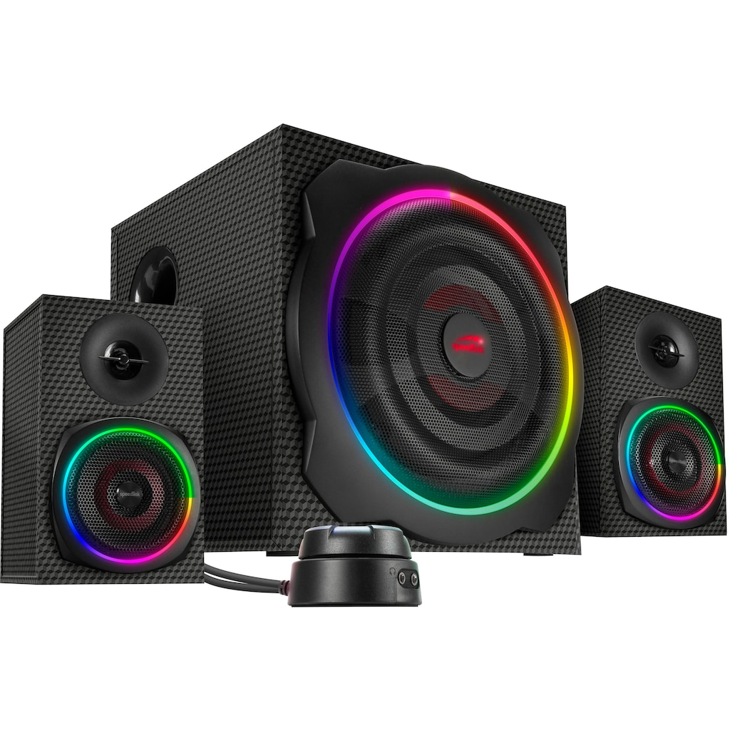 Speedlink Lautsprechersystem »GRAVITY CARBON RGB«