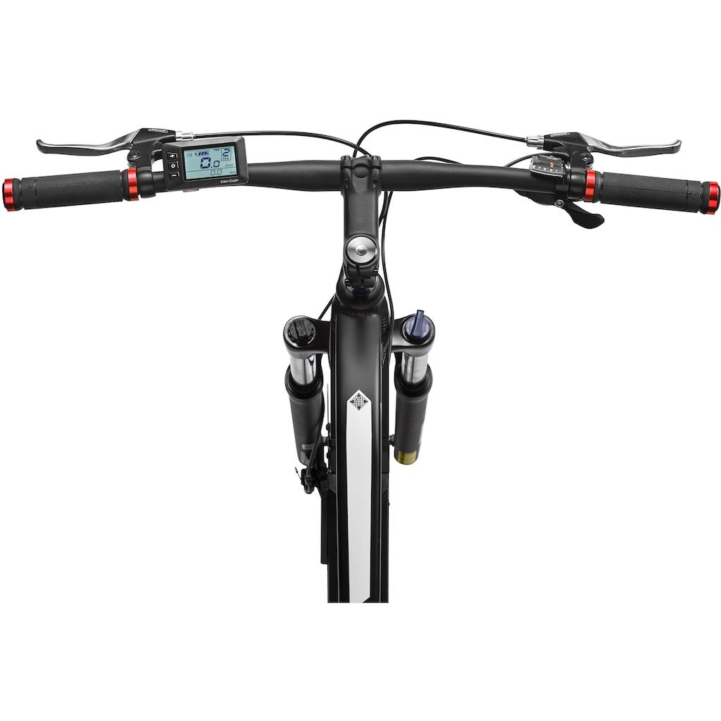 Telefunken E-Bike »Aufsteiger M920«, 9 Gang, Shimano, Acera, Heckmotor 250 W, (mit Beleuchtungsset)