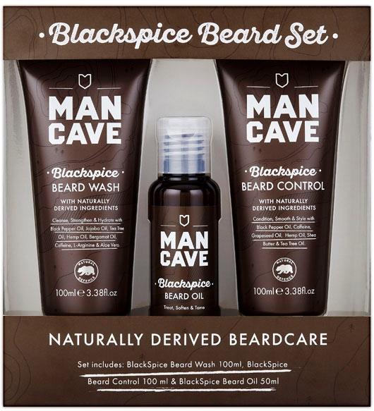 ManCave, »Blackspice Beard Set«, Bartpflegeset ...