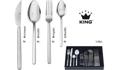 KING Besteck-Set »Moni«, (Set, 25 tlg.), pflegeleicher Edelstahl mit mattierter... kaufen