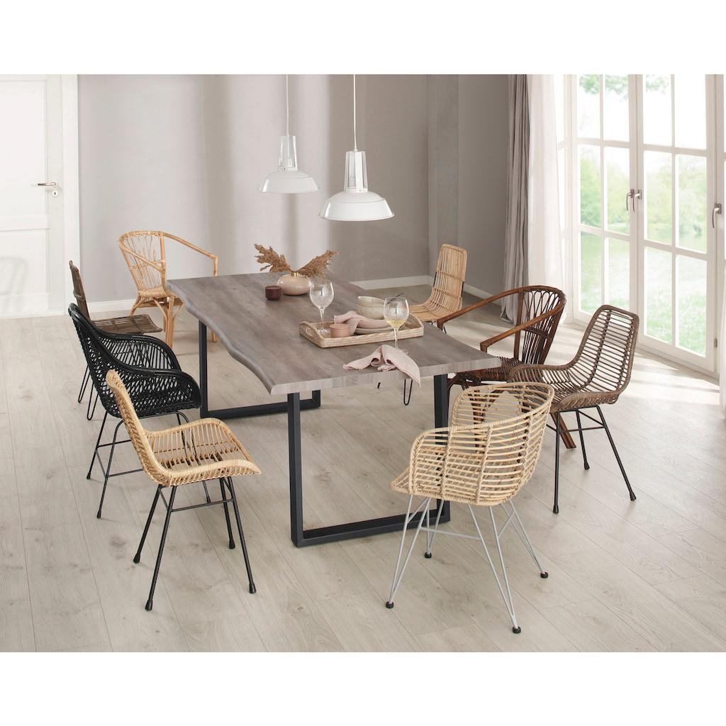 Home affaire Esszimmerstuhl »Jucita«, aus einem schönen Rattangeflecht, mit einem edlen Metallgestell, in unterschiedlichen Farbvarianten