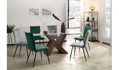 my home Esstisch »Melinda«, in zwei unterschiedlichen Farbvarianten auswählbar, in zwei verschiedenen Tischbreiten erhältlich kaufen