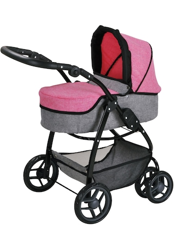 Knorrtoys® Puppenwagen »Coco - jeans pink«, 2-in-1 kaufen