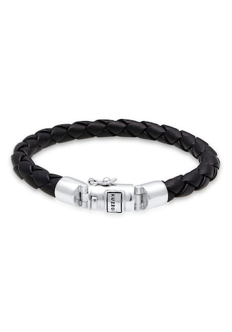 Kuzzoi Armband »Herren Lederarmband Kastenverschluss 925 Silber« kaufen