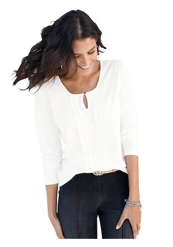 Classic Inspirationen Shirt mit paspeliertem Rundhals - Ausschnitt kaufen
