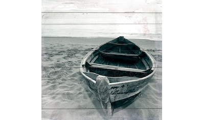 QUEENCE Holzbild »Einsames Boot«, 40x40 cm Echtholz kaufen