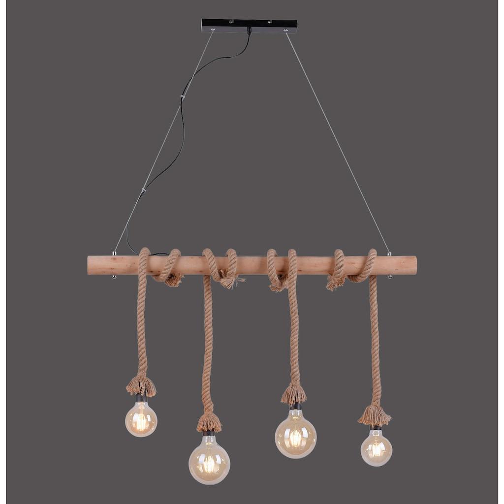 Leuchten Direkt Pendelleuchte »ROPE«, E27, 1 St., Hängeleuchte, Hängelampe