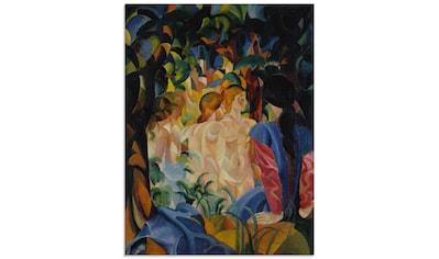 Artland Glasbild »Badende Mädchen. 1913.«, Frau, (1 St.) kaufen