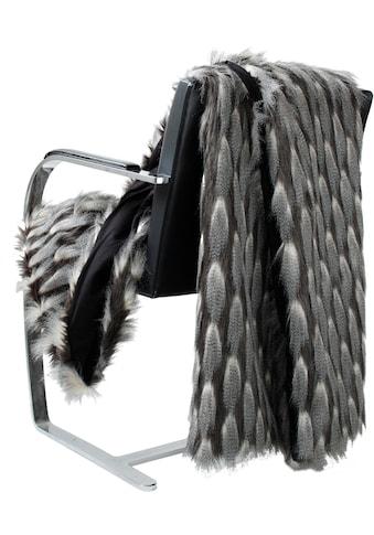 APELT Wohndecke »1101«, Fake Fur in Feder Optik kaufen