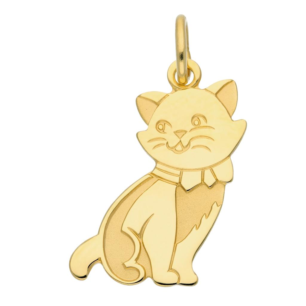 Adelia´s Kettenanhänger »333 Gold Anhänger Katze«, Goldschmuck für Damen