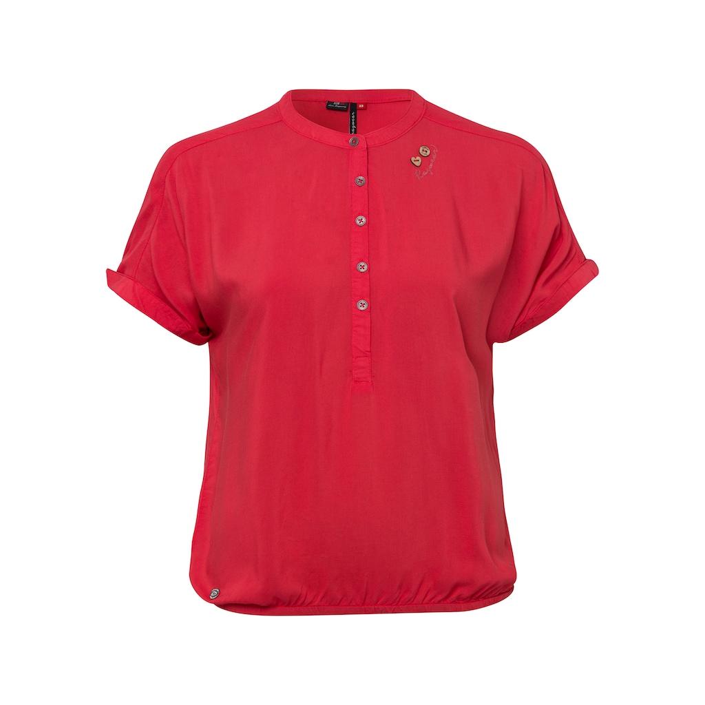 Ragwear Shirttop »RICOTA«, mit holzfarbigen Zierknopfbesatz