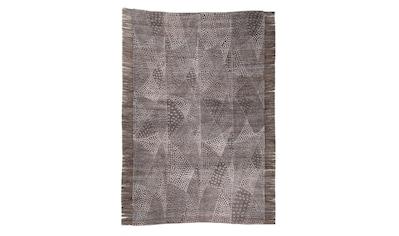 DIE HAUSKUNST Teppich »Chiya Tiama 2«, rechteckig, 4 mm Höhe, Flachgewebe, handgewebt, mit Fransen, Wohnzimmer kaufen