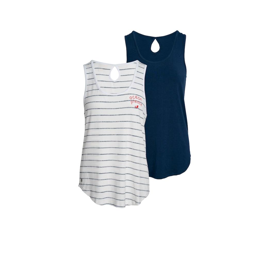 Ocean Sportswear Tanktop »Nachhaltige LENZING™ ECOVERO™ Viskose«, (Packung, 2er-Pack)