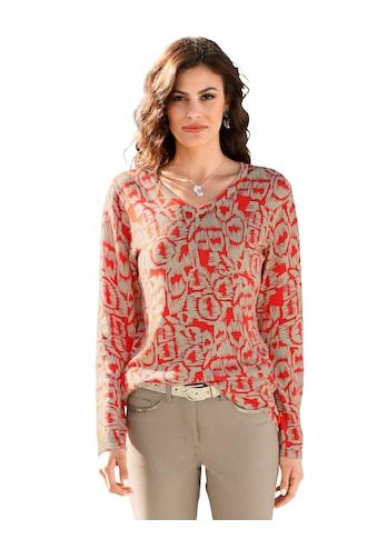 Amy Vermont V-Ausschnitt-Pullover, im allover-Druck kaufen