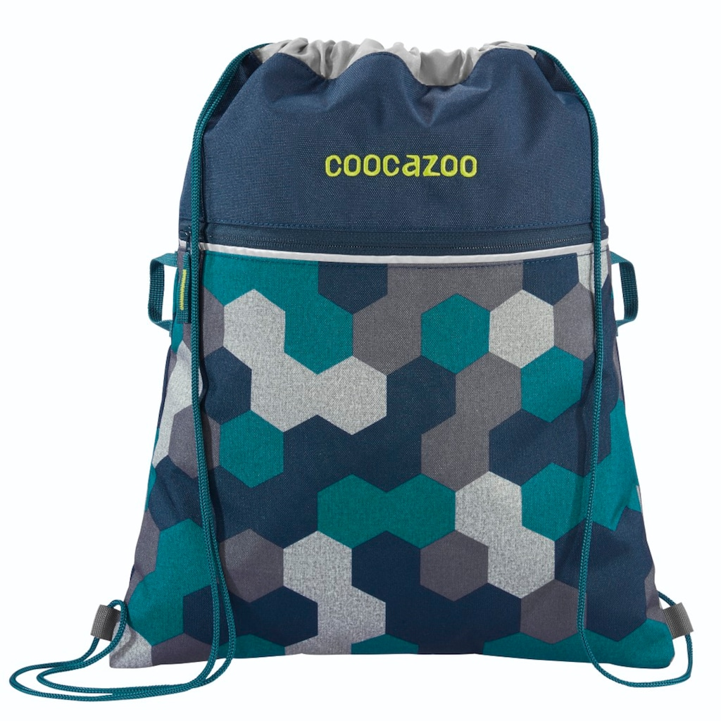 "Coocazoo Sportbeutel ""RocketPocket2"", Blue Geometric Melange"