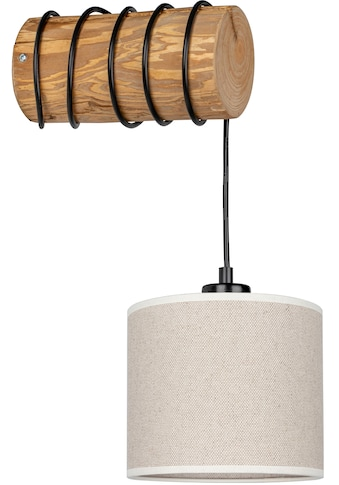 OTTO products Wandleuchte »Emmo«, E27, Wandlampe mit hochwertigem Textilschirm Ø 17,5 cm aus Leinen & Baumwolle, massives Kiefernholz, Naturprodukt, Nachhaltig mit FSC®-Zertifikat, Made in Europe kaufen