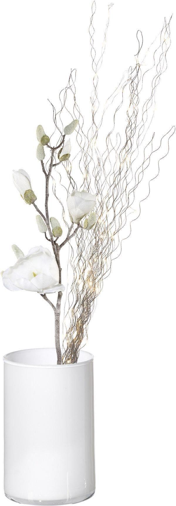 Kunstblume Magnolie (Set 3 Stück) Wohnen/Accessoires & Leuchten/Wohnaccessoires/Kunstpflanzen/Kunstblumen