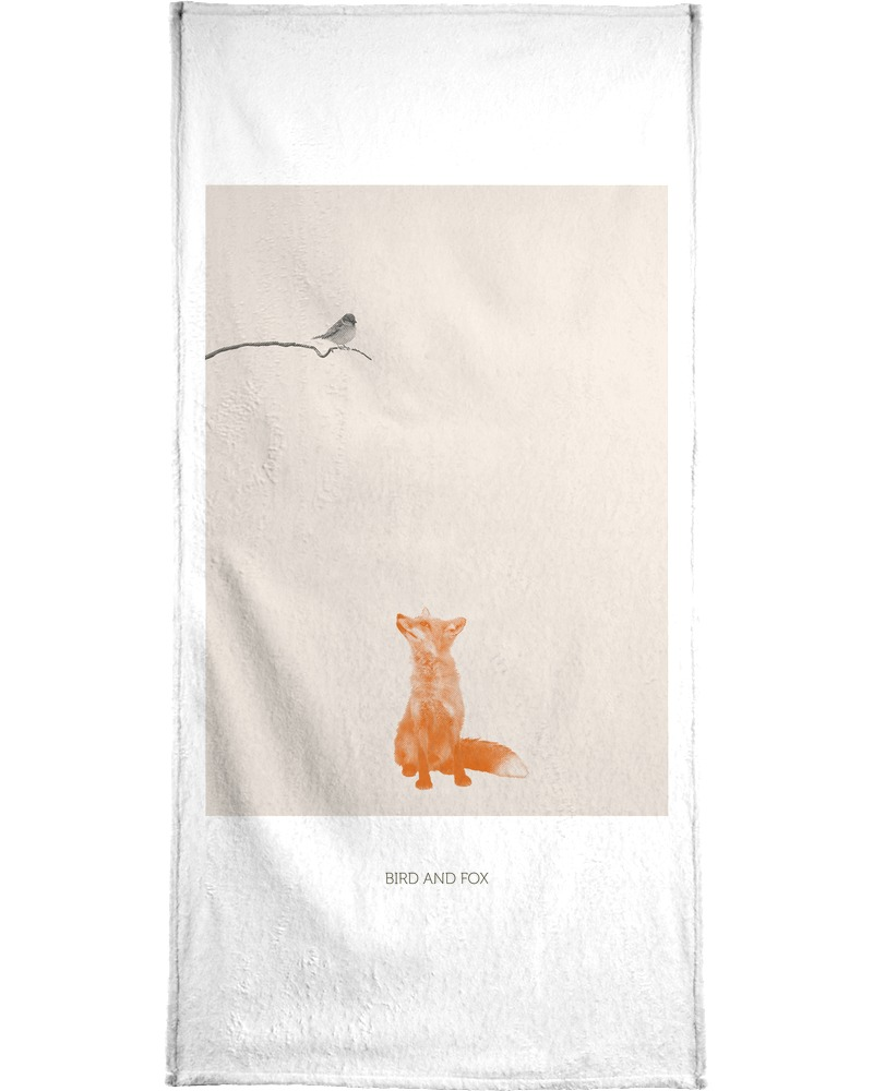 Handtuch »Bird And Fox«, Juniqe