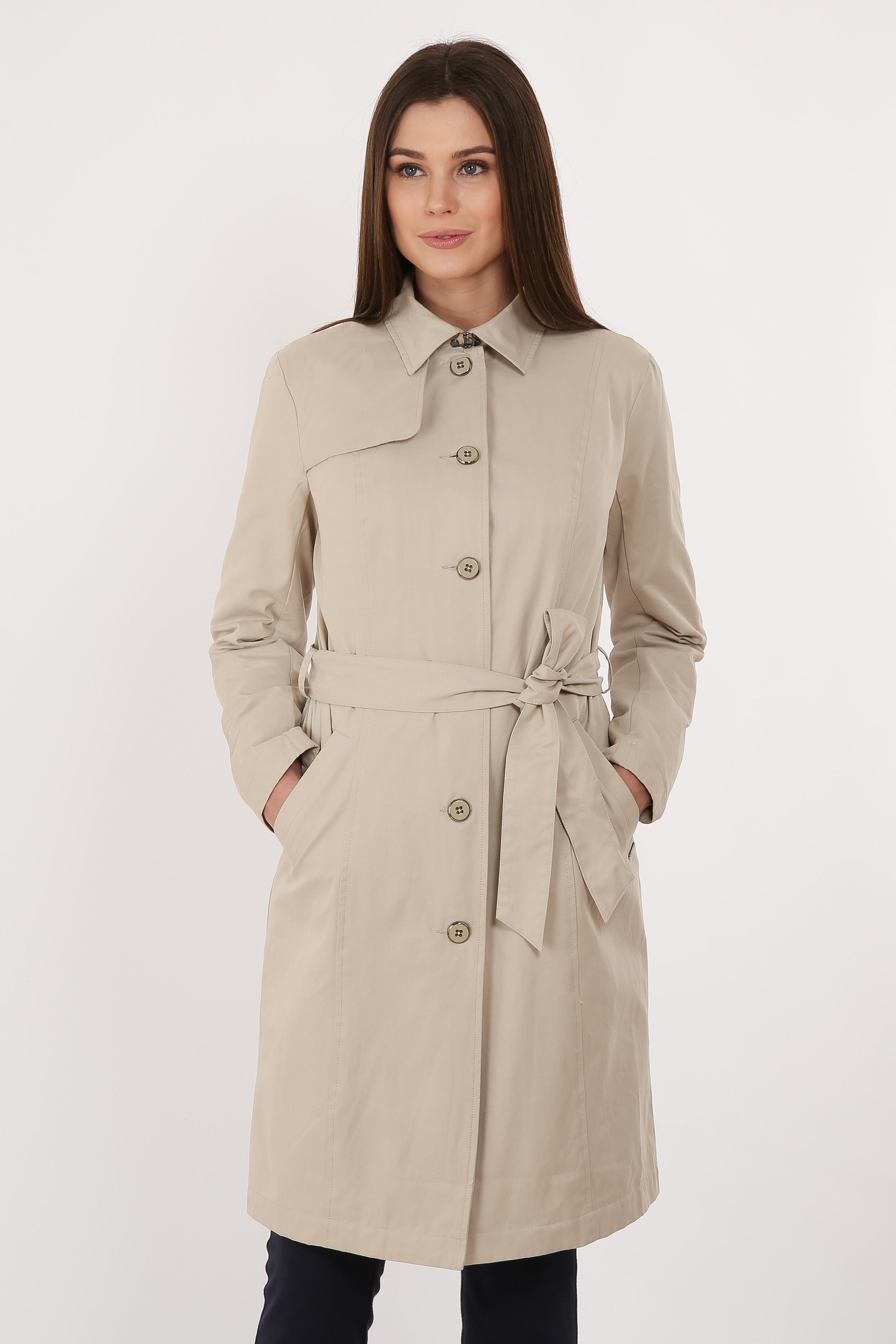 Finn Flare Trenchcoat mit elegantem Gürtel | Bekleidung > Mäntel > Trenchcoats | Braun | Baumwolle - Jeans - Nylon | FINN FLARE