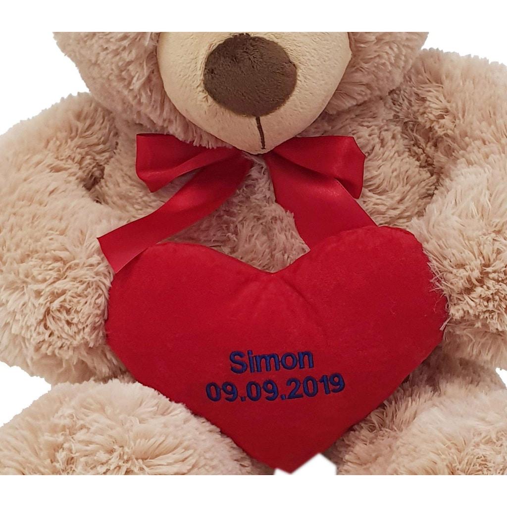 Heunec® Kuscheltier »Bär, 70 cm«, mit individuell bestickbarem Herz
