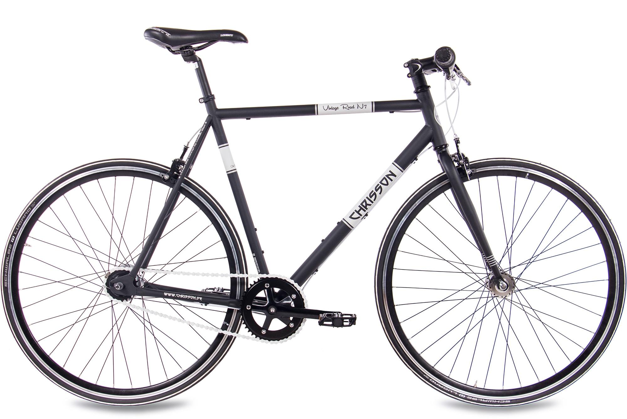 Chrisson Urbanbike Vintage Road N7, 7 Gang, Shimano, Nexus SG-7R42 Schaltwerk, Nabenschaltung schwarz Crossräder Fahrräder Zubehör Fahrrad