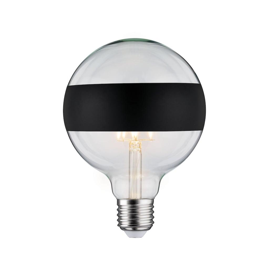 Paulmann LED-Leuchtmittel »Globe 6,5 Watt E27 Ringspiegel Schwarz matt Warmweiß«, 1 St., Warmweiß