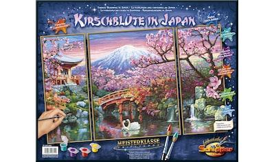 Schipper Malen nach Zahlen »Meisterklasse Triptychon, Kirschblüte in Japan«, Made in Germany kaufen
