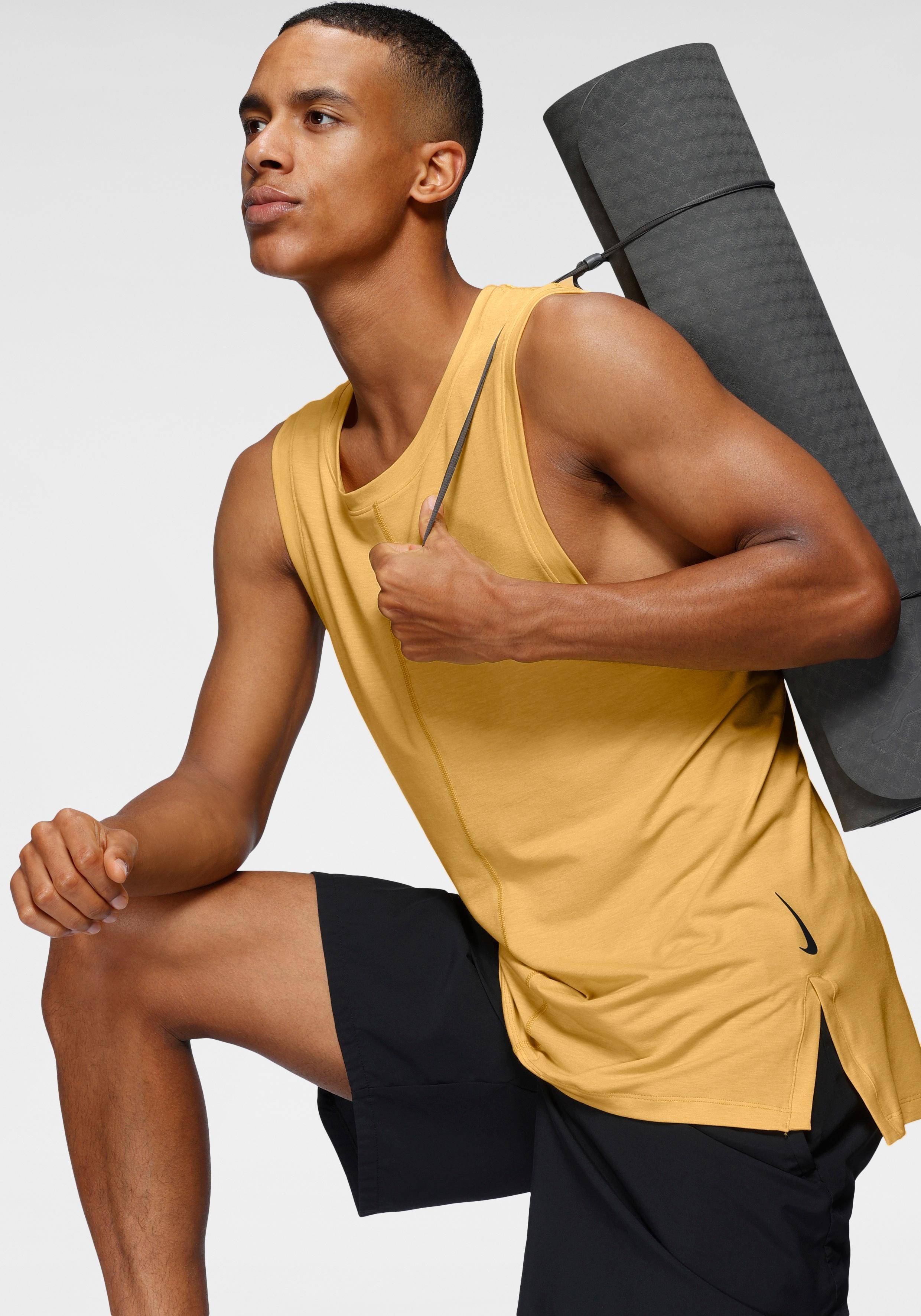 Nike Yogatop Dri-FIT Men's Yoga Training Tank gelb Herren Tops Shirts