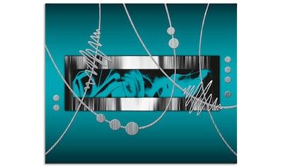 Artland Küchenrückwand »Silber abstrakt auf petrol« kaufen