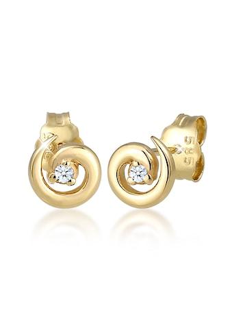 Diamore Paar Ohrstecker »Stecker Spirale Diamanten (0.03 ct) 585er Gelbgold« kaufen
