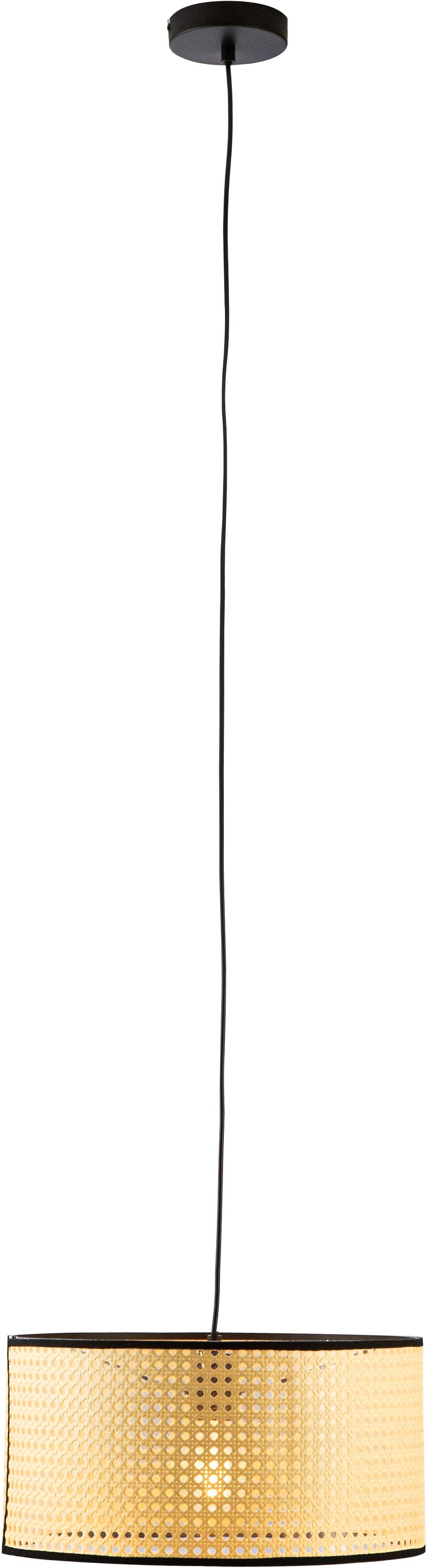 Nino Leuchten Pendelleuchte LU, E27, 1 St., Hängeleuchte, Hängelampe, Wiener Geflecht