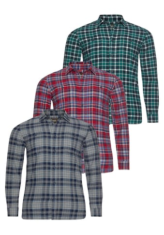 Man's World Flanellhemd, (Packung, 3er-Pack) kaufen